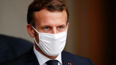 صورة إصابة الرئيس الفرنسي ماكرون بفيروس كورونا