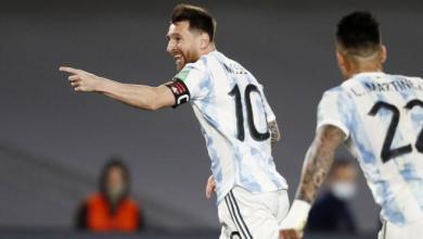صورة ميسي يقود الأرجنتين للفوز على أوروغواي