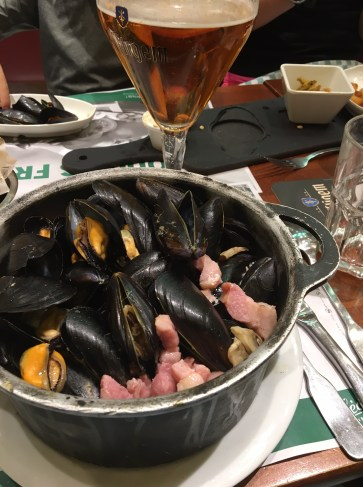 Our celebration lunch, Mussels