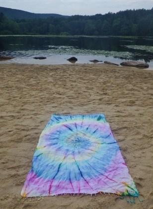 tie-dye beach towel