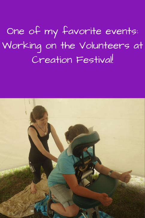 Creation Festival 2017 Massage