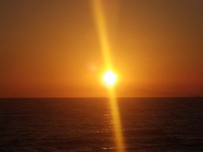 newport beach pier orange sunset