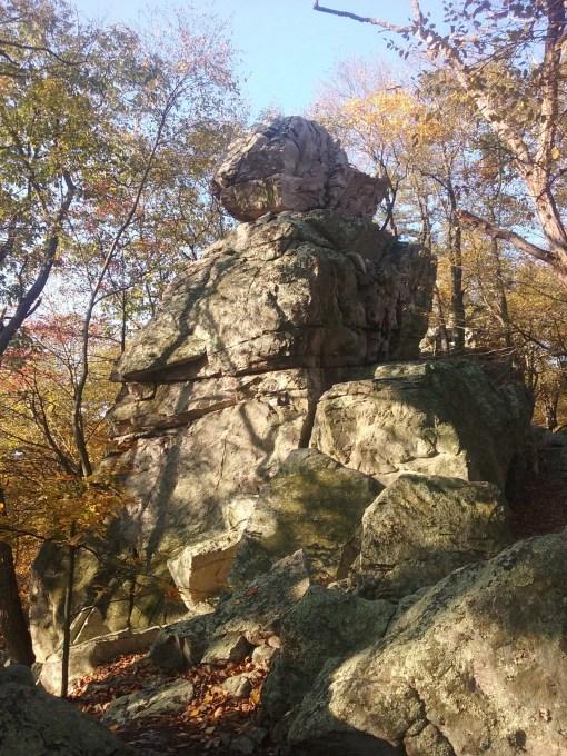 hiking white rocks