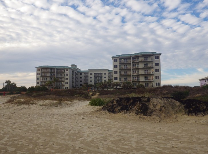 Galveston in January resort on beach