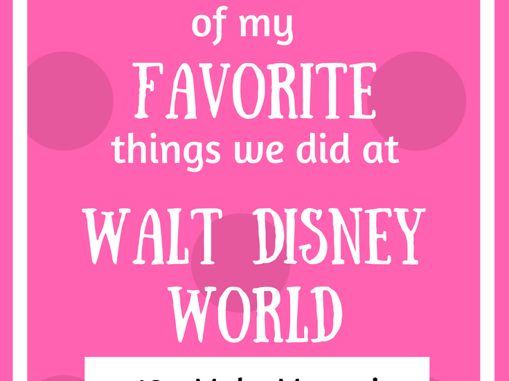 make memories at disney