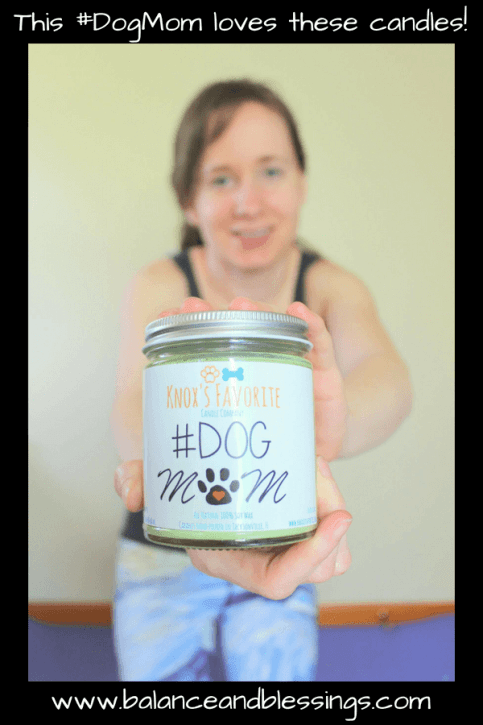 Dog mom candles