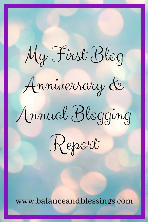 My First Blog Anniversary & Blogging Report
