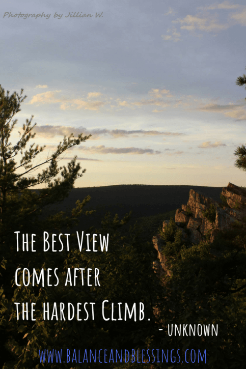The Best View comes after the hardest Climb nature photography