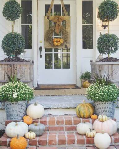 Fall decor ideas porch and outside