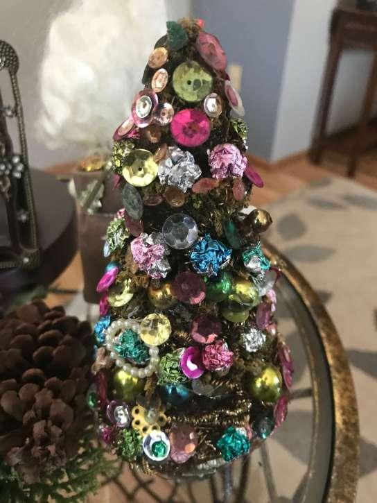 sequin christmas tree craft DIY tree