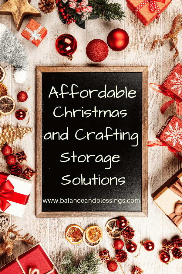 Affordable Christmas and Crafting Storage Solutions