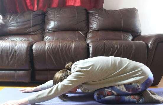 easy yoga poses child's pose