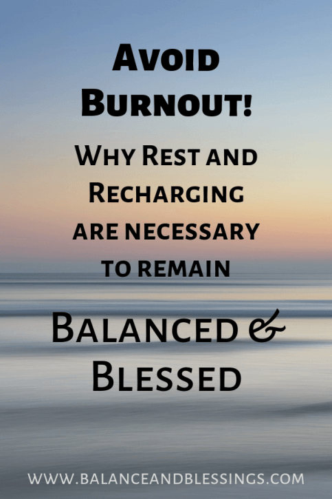 Avoid Burnout! rest well