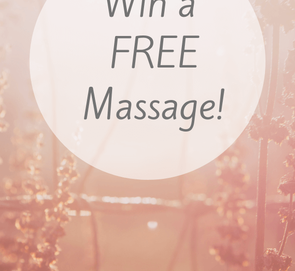 win a free massage self-care giveaway