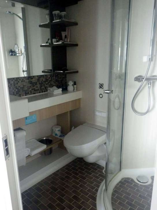 Cruise ship cabin bathroom