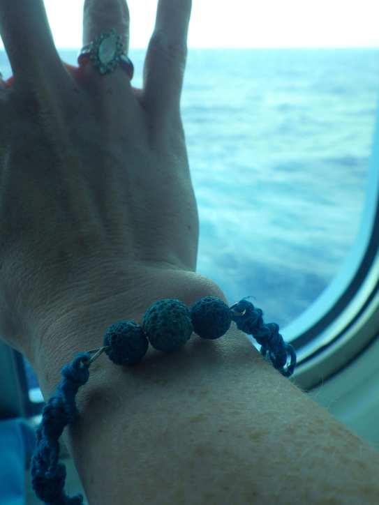 Aromatherapy hemp bracelet