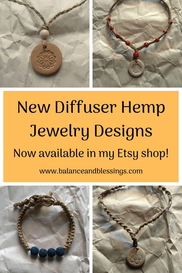 new diffuser hemp jewelry designs