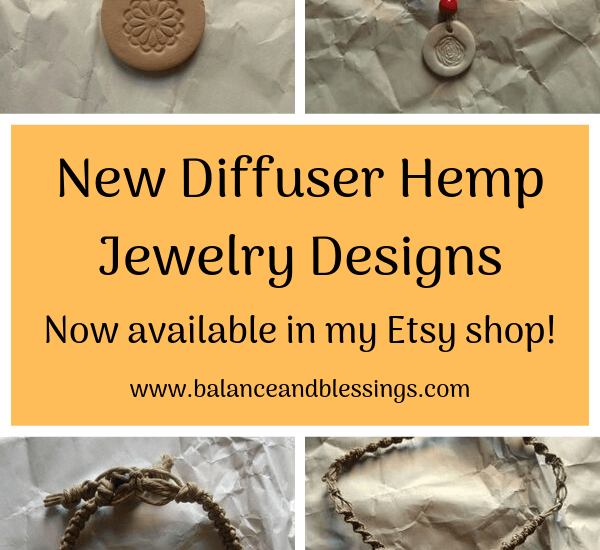 new diffuser hemp jewelry designs