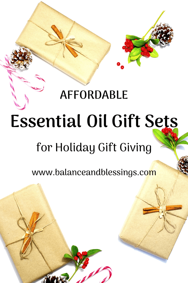 AFFORDABLE essential oil gift sets for holiday gift giving