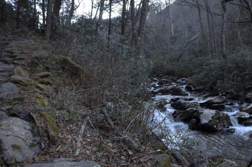 smoky mountain national park during Winter in Gatlinburg