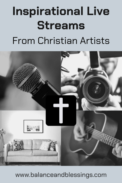 inspirational live streams from christian artists