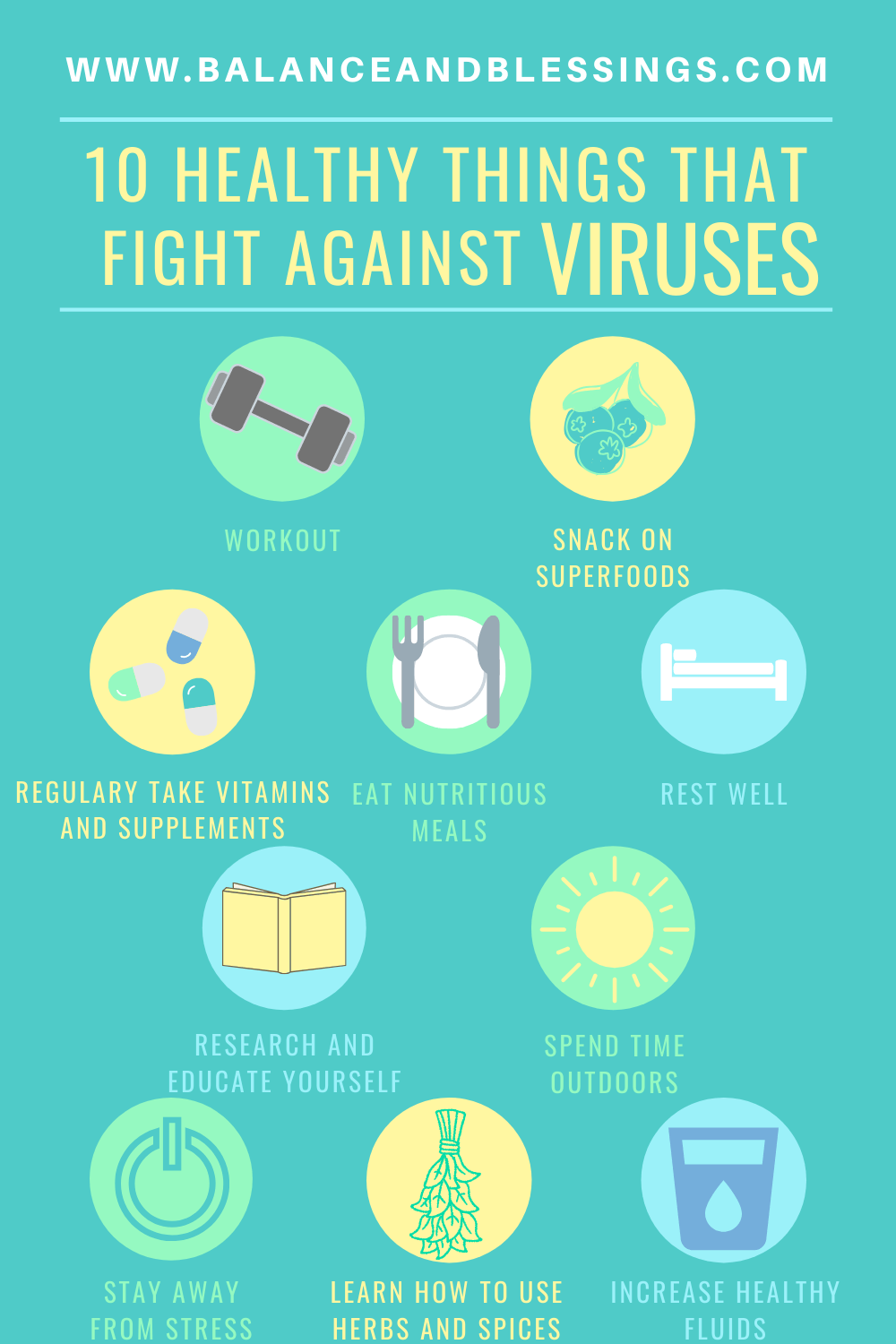 10 healthy things that fight against viruses you can do every day