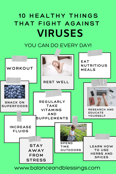 10 Healthy Things that fight against viruses list of 10