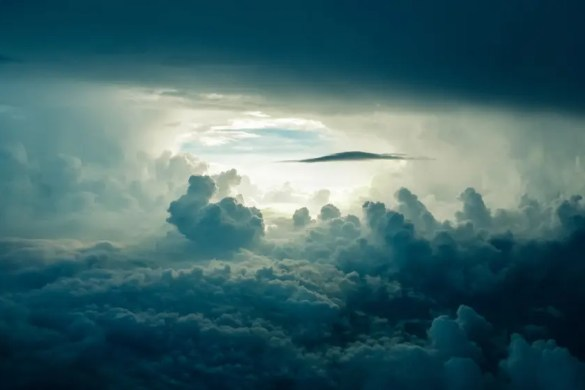 The Daily Goal of Meditation - Like a storm covers the blue sky, our thoughts cover our true self