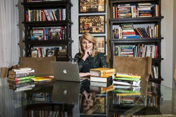 Arianna Huffington in her office.
