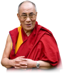 A profile picture for the Dalai Lama is shown.