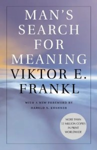 The book cover for Viktor Frankl's Man's Search for Meaning is Shown.