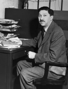 Abraham Maslow is pictured in his Office at Brooklyn College.