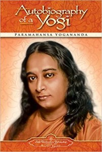 An image shows the cover of Paramahansa Yogananda's spiritual classic Autobiography of a Yogi.