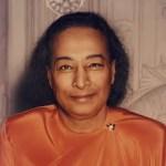 a headshot image is shown of the great Hindu swami Paramahansa Yogananda.