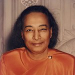 a headshot image is shown of the great Hindu swami Paramahansa Yogananda.