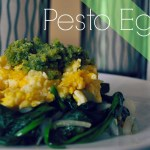 Pesto Eggs with Arugula and Spinach