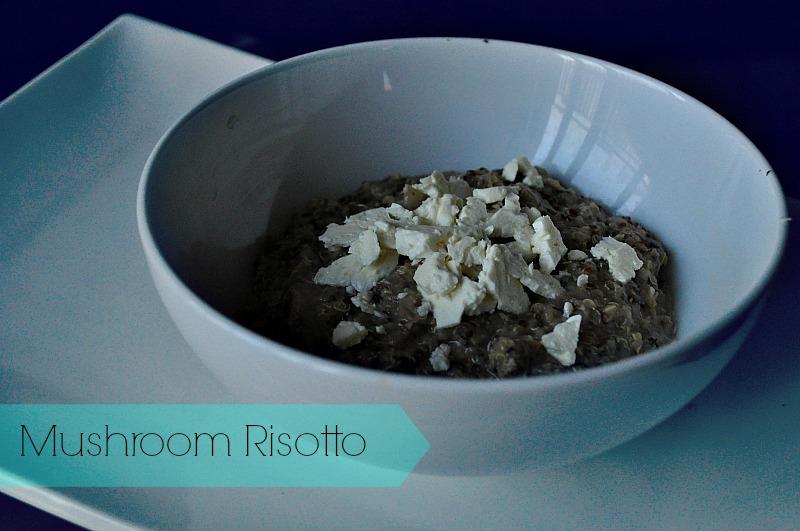 mushroom risotto, gluten free risotto, vegetarian recipes,