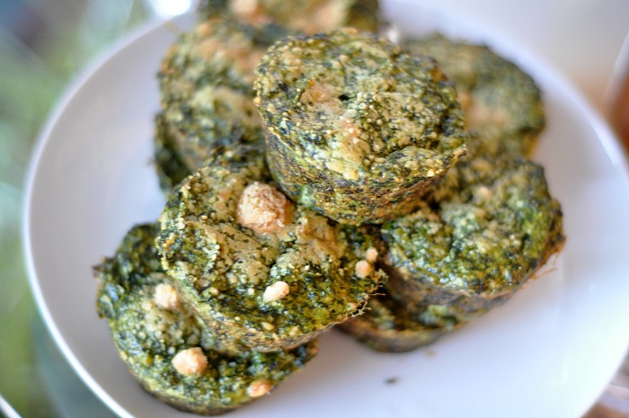breakfast chickpea spinach muffins