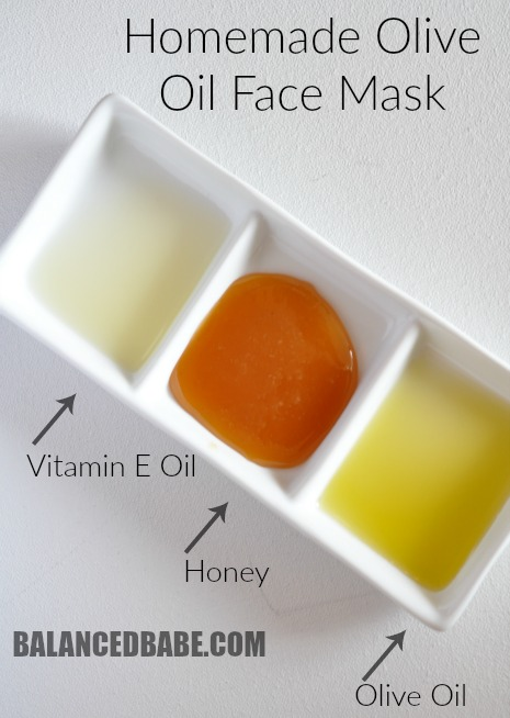 homemade olive oil face mask