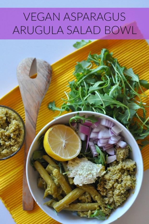 asparagus arugula salad bowl