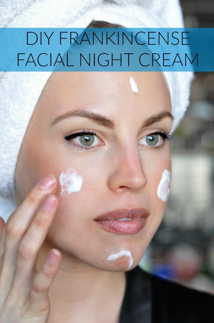 DIY frankincense facial night cream