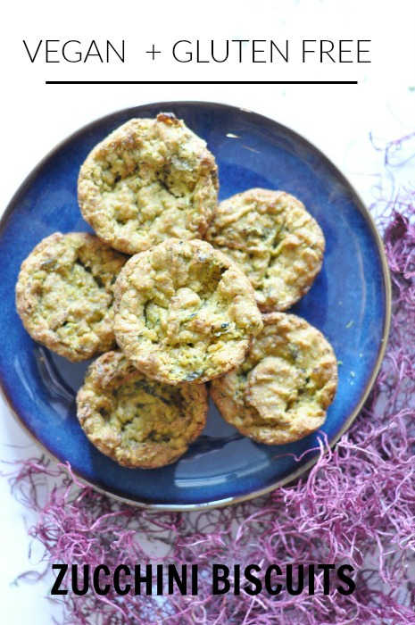 vegan gluten free zucchini biscuits