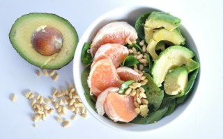 vegan grapefruit avocado salad