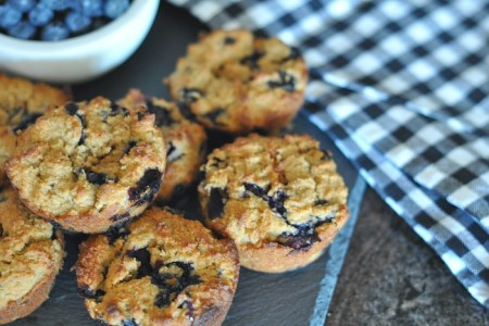 glutenfree vegan blueberry muffins