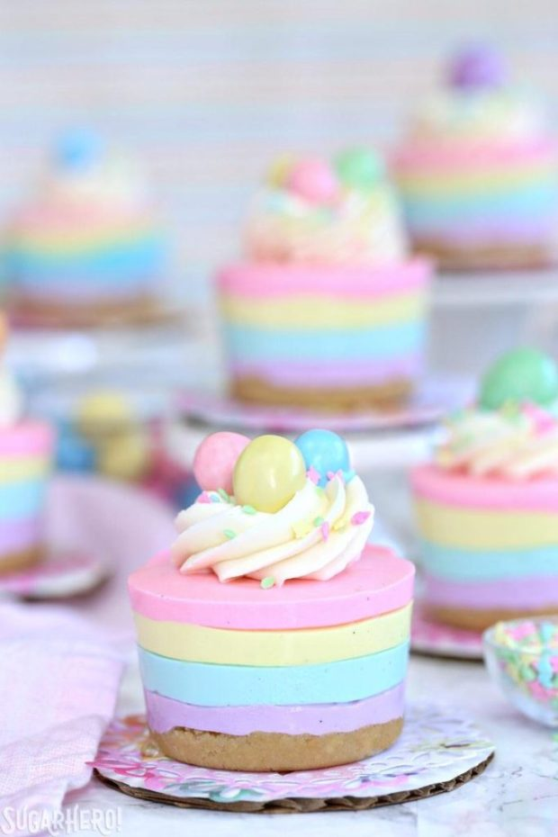 https://www.sugarhero.com/easter-no-bake-mini-cheesecakes/