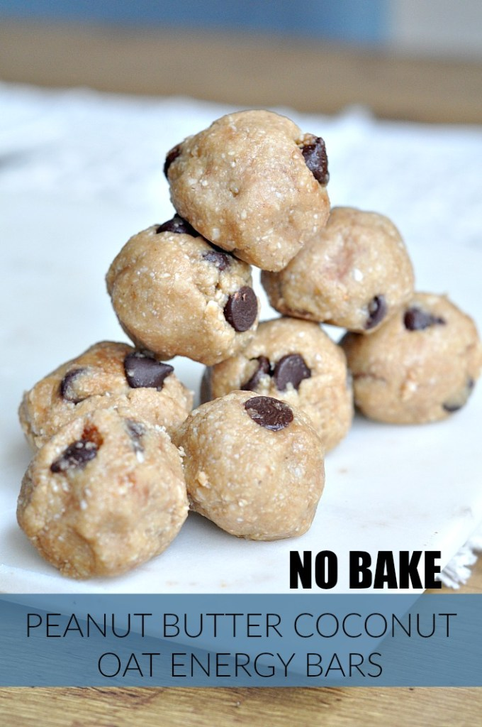 no bake peanut butter coconut oat energy balls