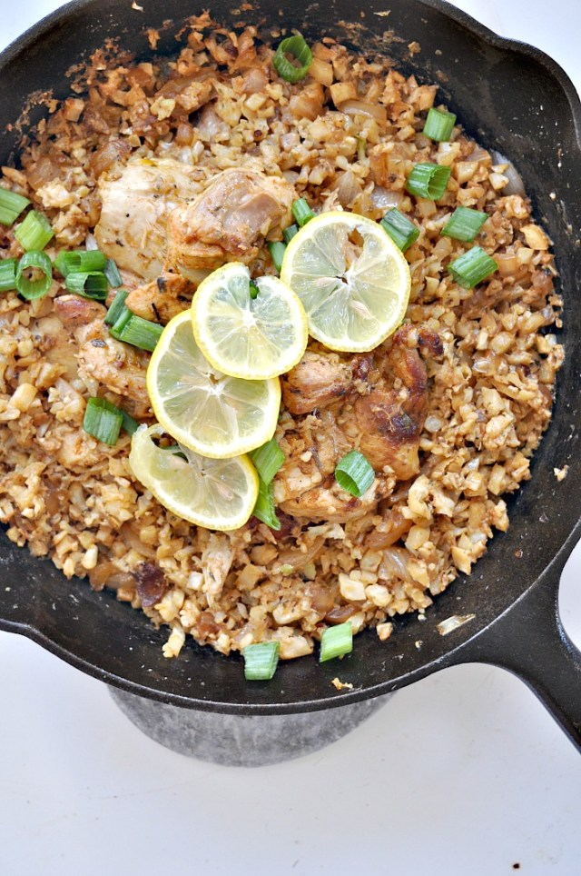 parmesan cauliflower rice garlic chicken 2