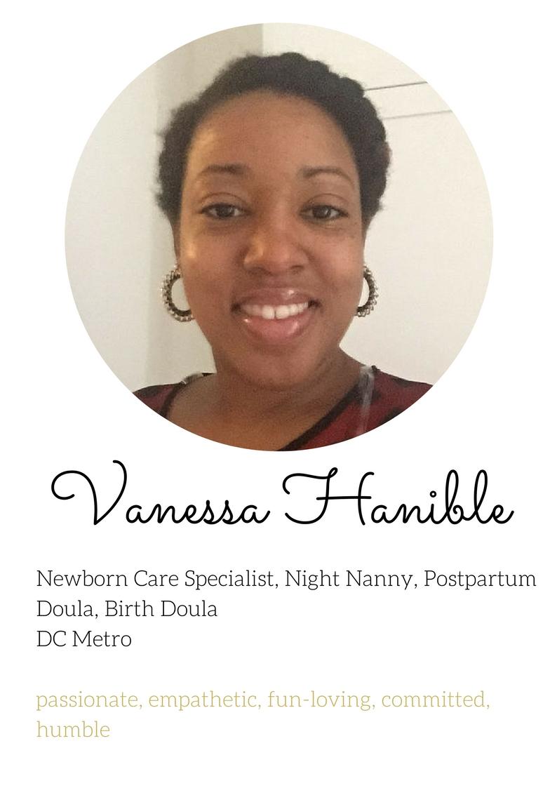 Vanessa Hanible Birth doula newborn care specialist lactation consultant