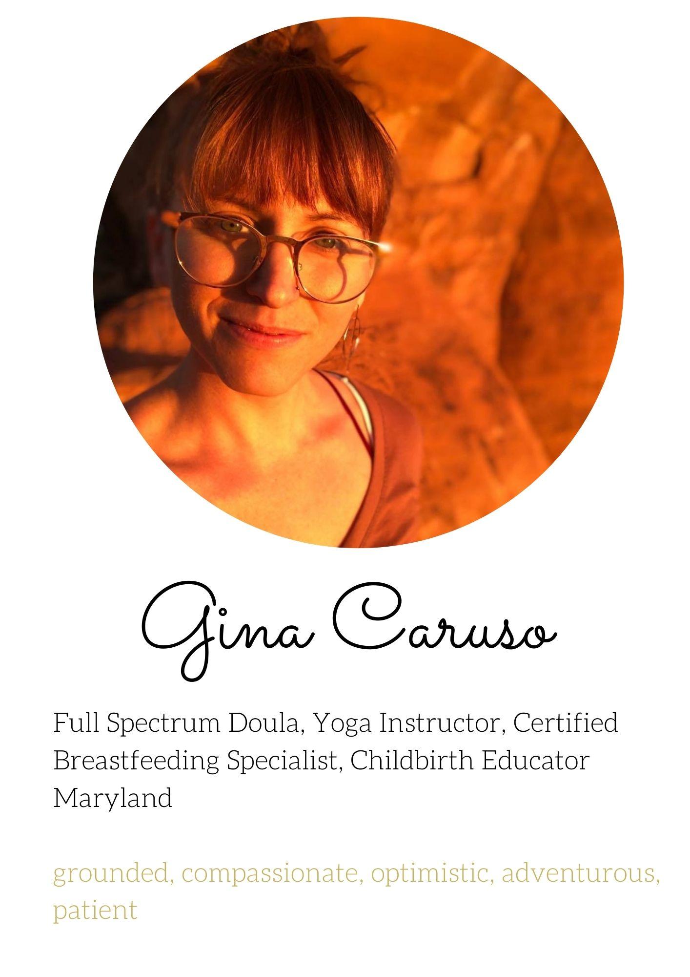 Gina Caruso Birth Doula Breastfeeding Specialist