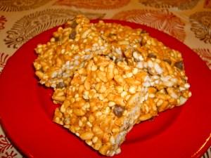 Peanut Butter Crisp Bars